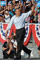 HOLLYWOOD, FL - NOVEMBER 04: US President Barack Obama speaks at a grassroots event at McArthur High School on November 4, 2012 in Hollywood, Florida.   Credit: mpi04/MediaPunch Inc. .<br />