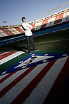 Atletico de Madrid's Eduardo Salvio during portrait session. February 02, 2010. (ALTERPHOTOS/Alvaro Hernandez)