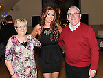 Shauna Flood celebrating her 21st birthday in the Thatch with grandparents Gerry and Mairead O'Neill. Photo:Colin Bell/pressphotos.ie