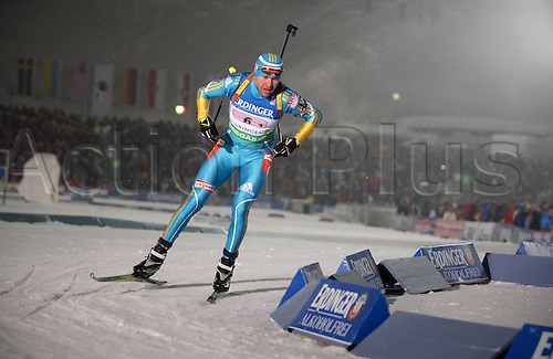 05.01.2011 Mens Biathlon World Cup from Oberhof Germany. Picture shows Olexander Bilanenko UKR.