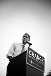 November 1, 2007. Durham, NC.. US senator and presidential candidate, Barack Obama, held a fundraiser at O?Kelly Riddick Stadium, at North Carolina Central University, in Durham, NC.