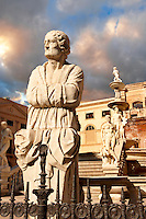 Fountain of Piazza Pretoria by Floentine Mannerist sculptor, Francesco Camilliani ( 1554- 1555), Palermo, Sicily
