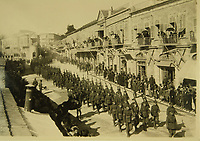 British soldiers marching into Jerusalem<br /> ,<br /> during  World War I (1914-18)