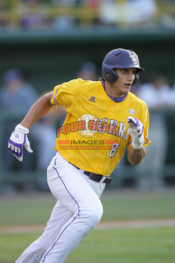 June 5, 2010: Mikie Mahtook of LSU during NCAA Regional game against UCLA at Jackie Robinson Stadium in Los Angeles,CA.  Photo by Larry Goren/Four Seam Images