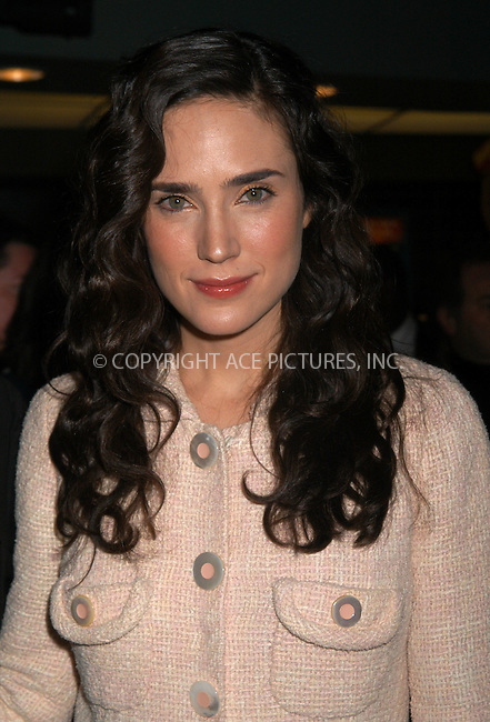 Jennifer Connelly arrives at the Dreamworks film premiere of 'House of sand and fog' in New York City. December 05 2003. Please byline: AJ SOKALNER/NY Photo Press.   ..*PAY-PER-USE*      ....NY Photo Press:  ..phone (646) 267-6913;   ..e-mail: info@nyphotopress.com
