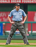 30 August 2015: MLB Umpire Lance Barrett works second base during a game between the Miami Marlins and the Washington Nationals at Nationals Park in Washington, DC. The Nationals rallied to defeat the Marlins 7-4 in the third game of their 3-game weekend series. Mandatory Credit: Ed Wolfstein Photo *** RAW (NEF) Image File Available ***