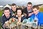 Transition Year students from St Patricks Secondary school who have made Christmas Table centre pieces as part of their Business Enterprise programme and are selling them at local Craft fairs l-r: Cathal Moynihan, Cathal o'Connor, Jodie Glennon, Ryan Prenderville and Kevin O'Connor