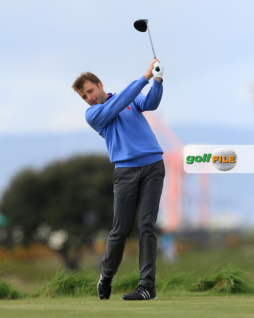 Cloudio Consul (Germany) on the 3rd tee during Round 1 of the Irish Amateur Open Championship at Royal Dublin on Thursday 7th May 2015.<br /> Picture:  Thos Caffrey / www.golffile.ie