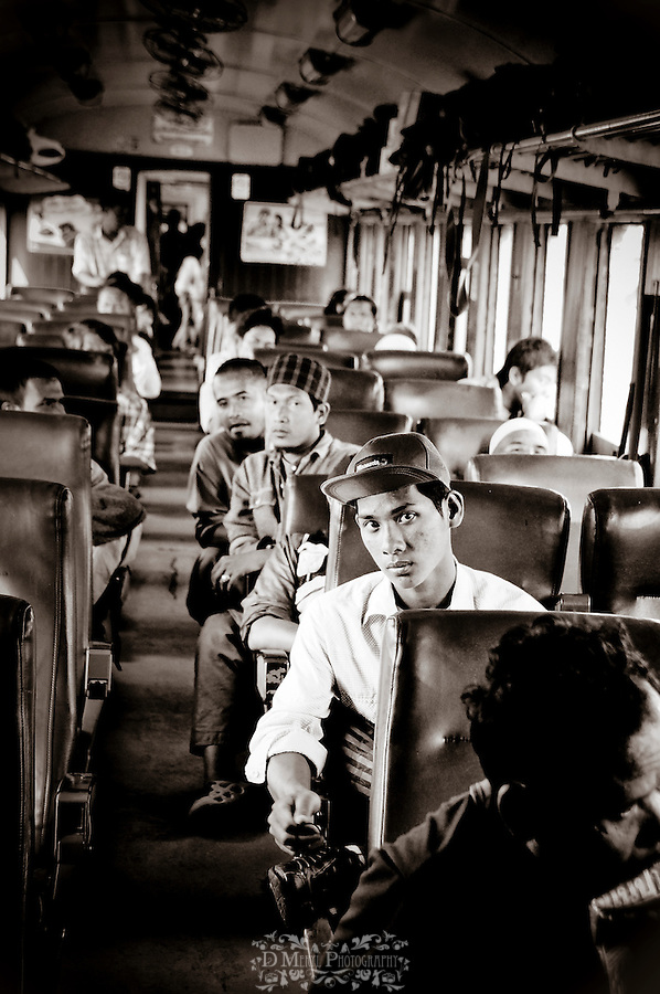 thailand, asia, transportation, travel, rail, culture mix, railroad, documentary, creative, people, religion, 2nd 3rd class, cars, buildings, abandoned, graffiti, windows, black & white