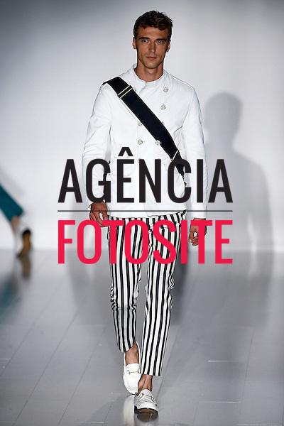 Milao, Italia &ndash; 06/2014 - Desfile de Gucci durante a Semana de moda masculina de Milao - Verao 2015. <br /> Foto: FOTOSITE