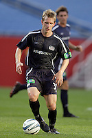 New England Revolution's Rusty Pierce. The New England Revolution and D.C. United finished in a scoreless tie in MLS play at Gillette Stadium, Foxboro, MA on Saturday August 28, 2004.