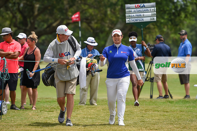 Ariya Jutanugarn (THA) heads for the tee on 2 during round 2 of the 2019 US Women's Open, Charleston Country Club, Charleston, South Carolina,  USA. 5/31/2019.<br /> Picture: Golffile | Ken Murray<br /> <br /> All photo usage must carry mandatory copyright credit (© Golffile | Ken Murray)