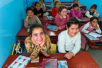 Girls in yeshiva, Djerba Island, Tunisia