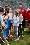 Princess Leonor of Spain and Princess Sofia of Spain visit the Enol lake in Asturias, Spain. September 08, 2018. (ALTERPHOTOS/A. Perez Meca)