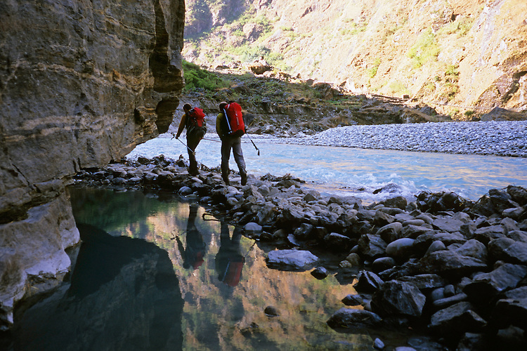 On the road to civilization, Annapurna Trek, Nepal, 2008
