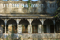 Old colonial architecture period house at Sarnath near Varanasi, Benares, Northern India