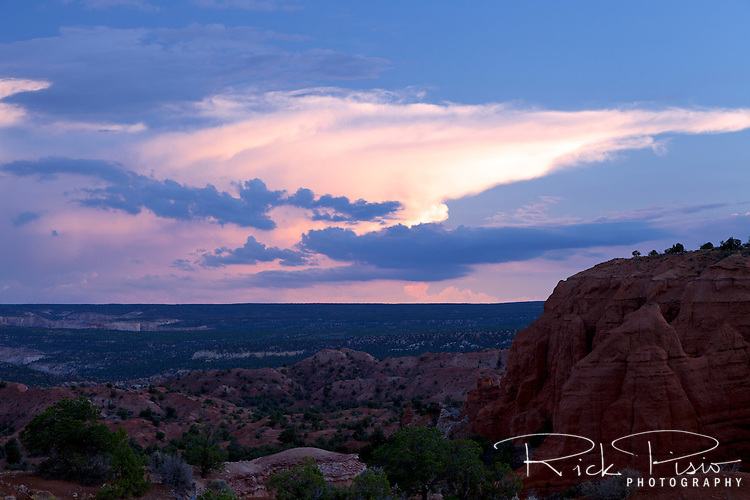 Illuminated thunderhead over Southwest Utah from Kodachrome Basin State Park.