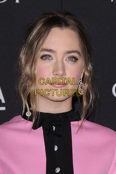 LOS ANGELES, CA - NOVEMBER 7: Saoirse Ronan at the LACMA Art + Film Gala honoring Alejandro G. I&ntilde;&aacute;rritu and James Turrell and presented by Gucci at LACMA on November 7, 2015 in Los Angeles, California. <br /> CAP/MPI27<br /> &copy;MPI27/Capital Pictures