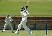 November 4th 2017, WACA Ground, Perth Australia; International cricket tour, Western Australia versus England, day 1; England opening batsmen James Vince plays a pull shot during his innings
