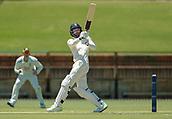 November 4th 2017, WACA Ground, Perth Australia; International cricket tour, Western Australia versus England, day 1; England opening batsmen James Vince plays a pull shot during his innings