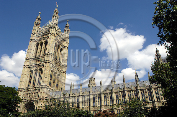 London - Great Britain / United Kingdom - 28 June 2008---Victoria Tower, south end of the Palace of Westminster, Houses of Parliament (without BB)---culture, architecture, tourism---Photo: Horst Wagner / eup-images