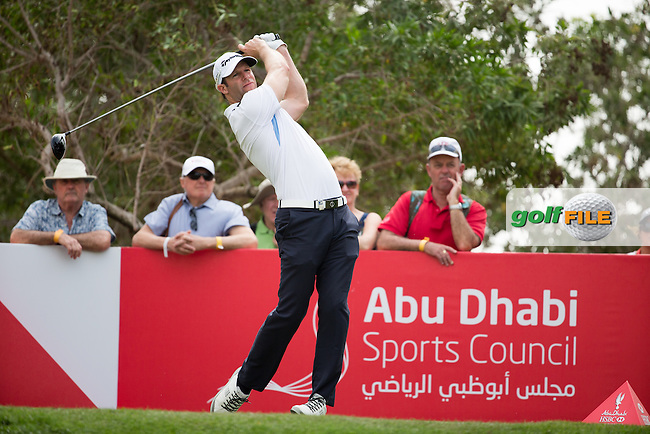 Bradley Dredge (WAL) on the 8th during the final round of the Abu Dhabi HSBC Championship, Abu Dhabi Golf Club, Abu Dhabi,  United Arab Emirates. 22/01/2017<br /> Picture: Golffile | Fran Caffrey<br /> <br /> <br /> All photo usage must carry mandatory copyright credit (&copy; Golffile | Fran Caffrey)