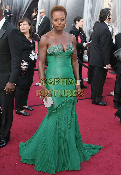 Viola Davis.84th Annual Academy Awards held at the Hollywood & Highland Center, Hollywood, California, USA..February 26th, 2012.oscars full length green strapless dress.CAP/ADM.©AdMedia/Capital Pictures.