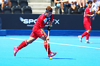 Seunghoon Lee of Korea during the Hockey World League 9th and 10th placing match between Korea and Scotland at the Olympic Park, London, England on 22 June 2017. Photo by Steve McCarthy.