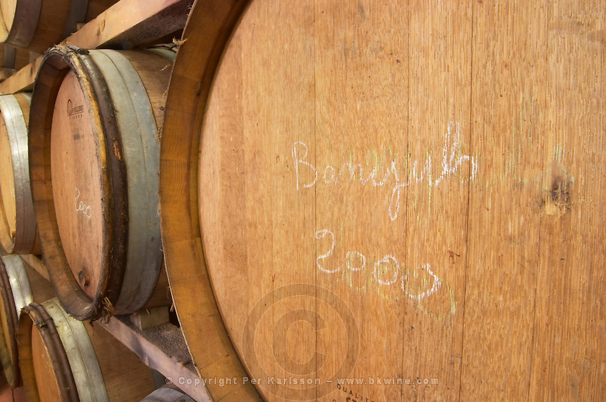 Banyuls 2000. Domaine Madeloc, Banyuls sur Mer. Roussillon. Barrel cellar. France. Europe.