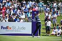 Jason Day (AUS) on the 1st tee during the 1st round at the WGC Fedex, TPC Southwinds, Memphis, Tennessee, USA. 25/07/2019.<br /> Picture Ken Murray / Golffile.ie<br /> <br /> All photo usage must carry mandatory copyright credit (© Golffile | Ken Murray)
