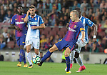 Andres Iniestai in action ,9th September 2017, Camp Nou, Barcelona, Spain; La Liga football, Barcelona versus Espanyol;