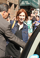 NEW YORK, NY-June 30: Ellie Kemper at the Late Show with Stephen Colbert to talk about new movie the Secret Life of Pets in New York. NY June 30, 2016. Credit:RW/MediaPunch