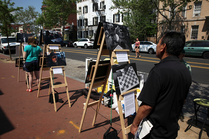 (180512RREI0064) La Esquina Project goes to La Esquina.  The documentary project La Esquina revolves around the history of the Latinos at the corner of Mt. Pleasant St. and Kenyon St. NW. Washington DC. May 12, 2018 . ©  Rick Reinhard  2018     email   rick@rickreinhard.com