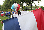 23 June 2006: A France fan. Togo played France at the RheinEnergie Stadion in Cologne, Germany in match 45, a Group G first round game, of the 2006 FIFA World Cup.