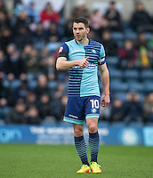 Matt Bloomfield of Wycombe Wanderers gives a thumb up during the Sky Bet League 2 match between Wycombe Wanderers and Crawley Town at Adams Park, High Wycombe, England on 25 February 2017. Photo by Andy Rowland / PRiME Media Images.