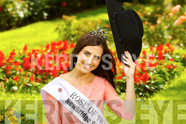 The newly crowned Rose of Tralee Haley O'Sullivan from Texas in Tralee town park on Wednesday.
