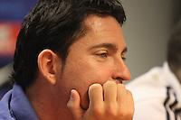 5.06.2012 Barcelona. Rueda de prensa de presentacion playoff final liga ACB. Xavi Pascual