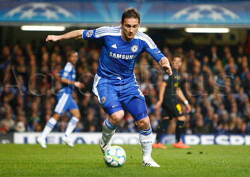18.04.2012. Stamford Bridge, Chelsea, London. Chelsea's Frank Lampard during the Champions League Semi Final 1st  leg match between Chelsea and Barcelona  at Stamford Bridge, Stadium on April 18, 2012 in London, England.............