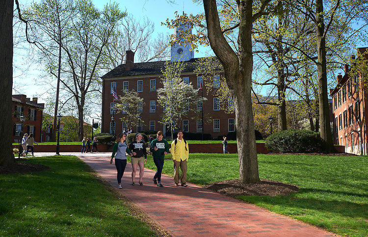 Ohio University view book images captured on College Green on Friday April 24, 2015.  Photo by Ohio University  /  Rob Hardin