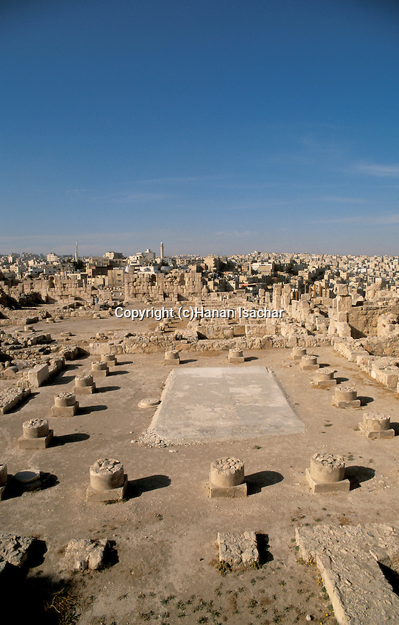Jordan, Amman. Ruins on Citadel Hill&#xA;<br />