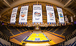 Duke men's basketball.  Five National Championship banners.<br /> <br /> (Jon Gardiner/Duke Photography)