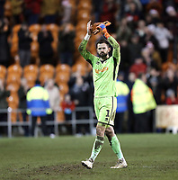 Blackpool's Mark Howard applauds the fans at the final whistle<br /> <br /> Photographer Rich Linley/CameraSport<br /> <br /> The EFL Sky Bet League One - Blackpool v Barnsley - Saturday 22nd December 2018 - Bloomfield Road - Blackpool<br /> <br /> World Copyright &copy; 2018 CameraSport. All rights reserved. 43 Linden Ave. Countesthorpe. Leicester. England. LE8 5PG - Tel: +44 (0) 116 277 4147 - admin@camerasport.com - www.camerasport.com