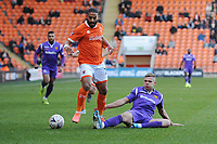 Blackpool's Liam Feeney is tackled by Maidstone United's Ross Marshall<br /> <br /> Photographer Kevin Barnes/CameraSport<br /> <br /> Emirates FA Cup Second Round - Blackpool v Maidstone United - Sunday 1st December 2019 - Bloomfield Road - Blackpool<br />  <br /> World Copyright © 2019 CameraSport. All rights reserved. 43 Linden Ave. Countesthorpe. Leicester. England. LE8 5PG - Tel: +44 (0) 116 277 4147 - admin@camerasport.com - www.camerasport.com