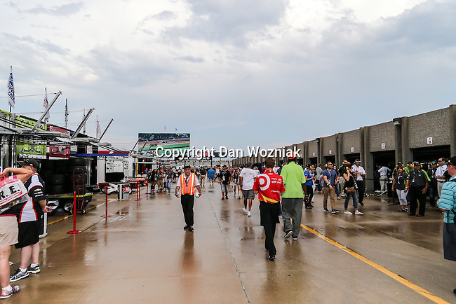 Indy car race teams prepare for the Verizon Indy Car Firestone 600 race at Texas Motor Speedway in Fort Worth,Texas.