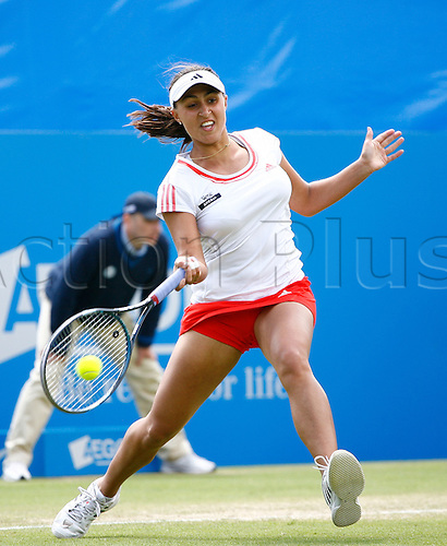 22.06.12 Devonshire Park, Eastbourne, ENGLAND: Tamira Paszek (AUT) def. Marion Bartoli (FRA) in Women's Singles - Semifinals 4-6 7-5 6-4 at the AEGON INTERNATIONAL tournament in Eastbourne June 22 2012