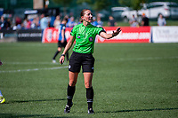 Kansas City, MO - Wednesday August 16, 2017: Danielle Chesky during a regular season National Women's Soccer League (NWSL) match between FC Kansas City and the Orlando Pride at Children's Mercy Victory Field.