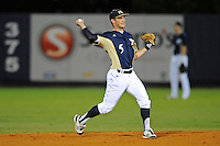 2 March 2012:  FIU infielder/outfielder Tyler James Shantz (5) throws to first as the FIU Golden Panthers defeated the Brown University Bears, 6-5, at University Park Stadium in Miami, Florida.