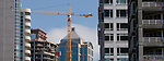 Seattle, 1521 Second Avenue, new condominium under construction, First Avenue from Belltown Neighborhod, Pacific Northwest, Washington State, panoramic,