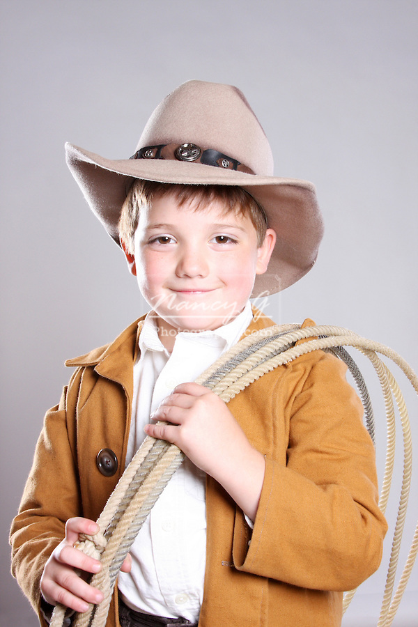 A happy young cowboy