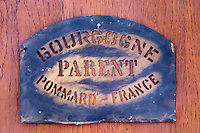 stencil to mark cases domaine parent pommard cote de beaune burgundy france